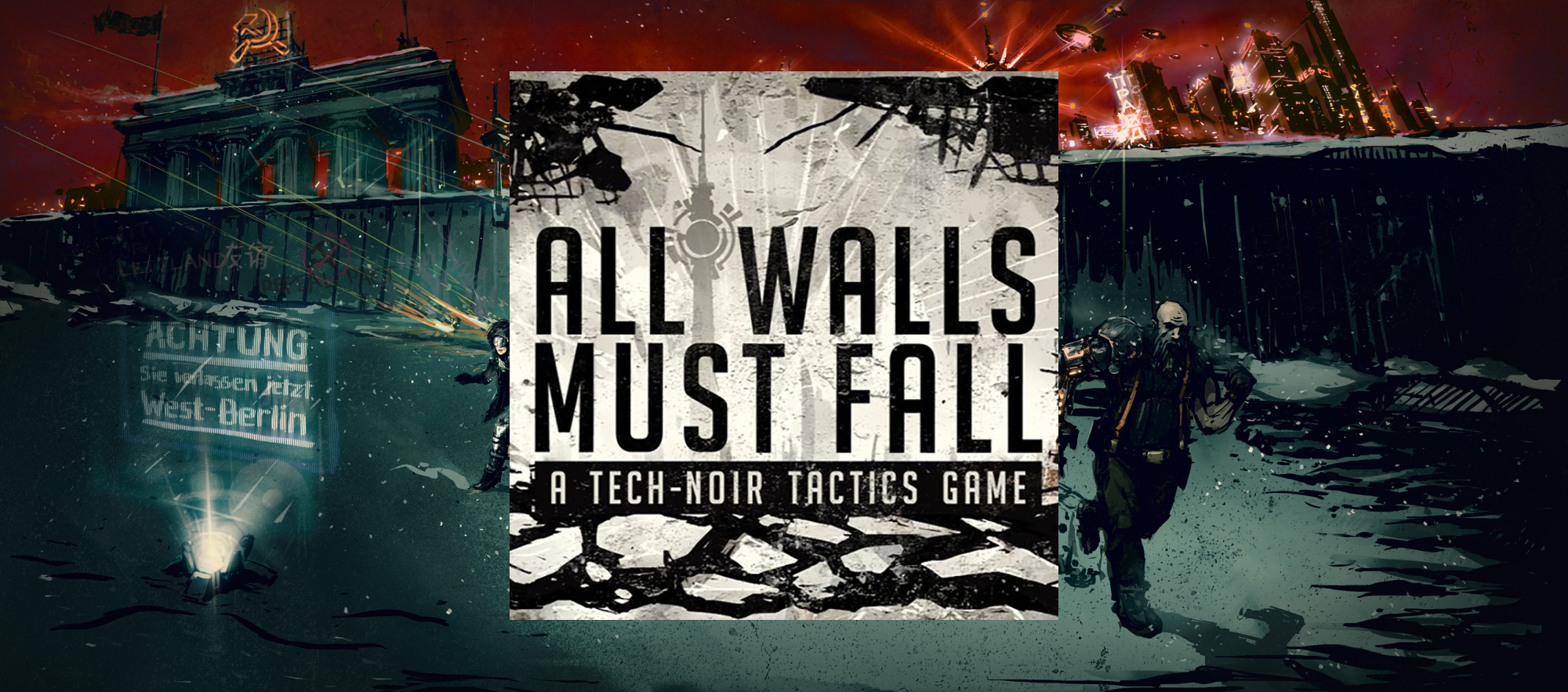 All Walls Must Fall Soundtrack Artwork on Handdrawn Wallpaper