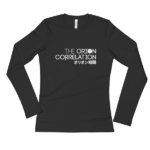 Ladies' Long Sleeve Black T-Shirt 2