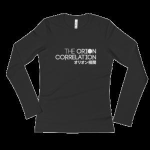 Ladies' Long Sleeve Black T-Shirt